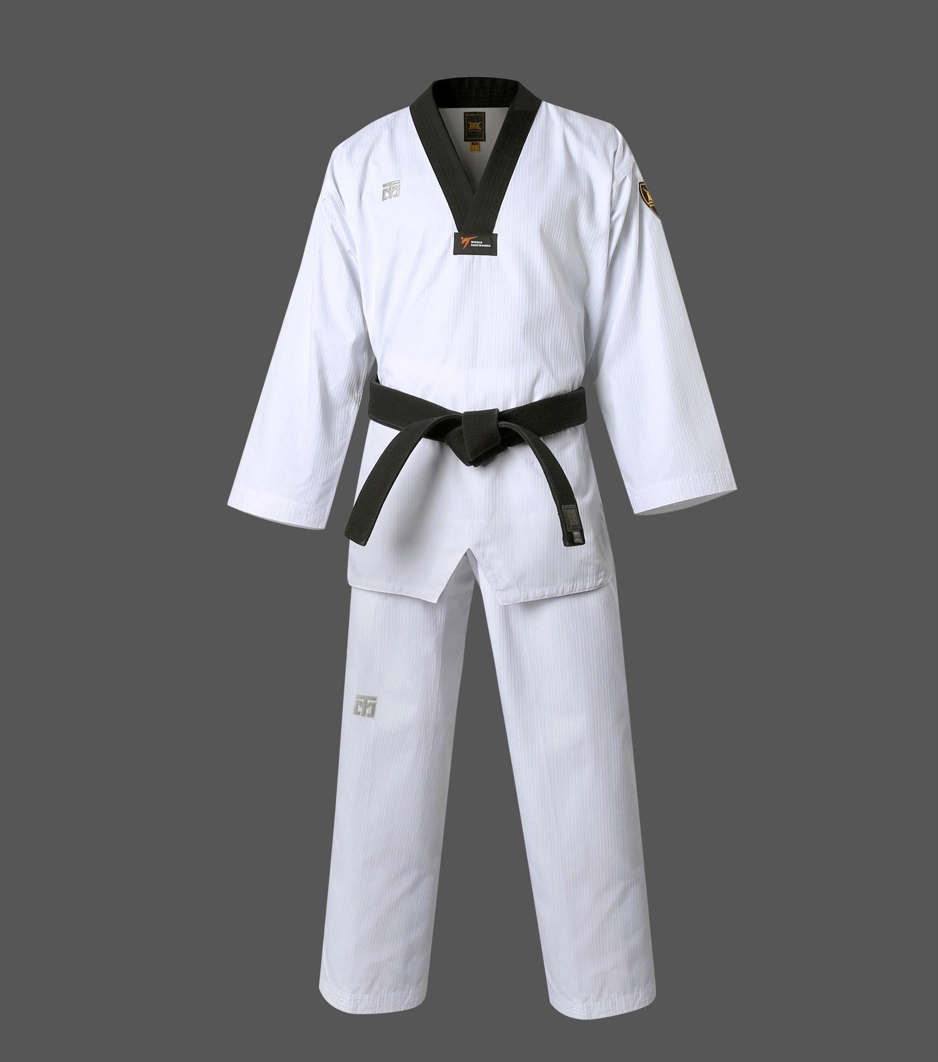 MTX Taekwondo Anzug mit schwarzem Revers